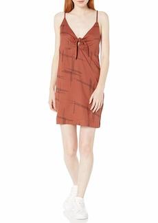 RVCA Women Capital Knot Tank Dress Red