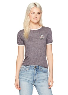 RVCA Women's Cold Soul Ringer Tee  L