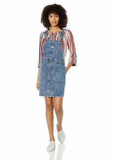 RVCA Women's Conquer Fitted Dungaree Dress  XS
