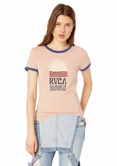RVCA Women's Daybreak Ringer T-Shirt Beige L/