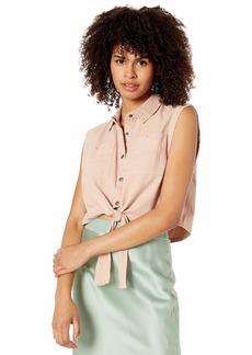 RVCA womens EMRI Sleevless Woven Shirt  S