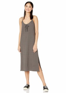 RVCA womens Equator MIDI Dress heather grey M