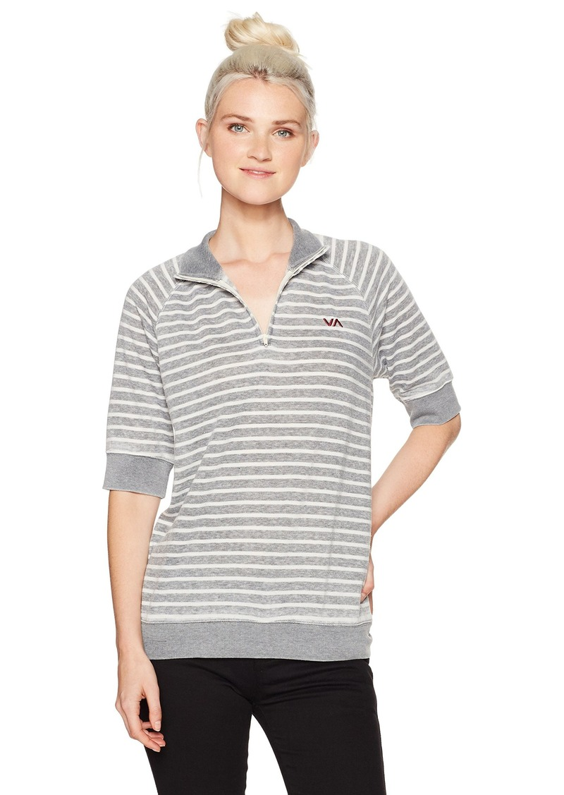 RVCA Women's Evergreen Collared Fleece Top  S