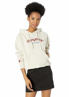 RVCA Women's Everything is FINE Hooded Sweatshirt  XS