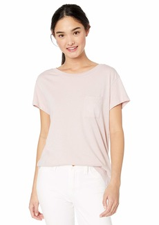 RVCA Womens Flora Seal Short Sleeve Crew Neck Pocket T-Shirt  M