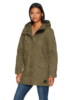 RVCA Women's Ground Control Sherpa Lined Jacket  L