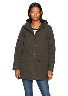 RVCA Women's Ground Control Sherpa Lined Jacket  M