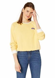 RVCA Women's Hangtown Fleece Sweatshirt Beige S/
