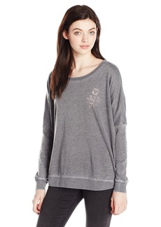 RVCA Women's Have a Nice Day Crew Sweatshirt  XS