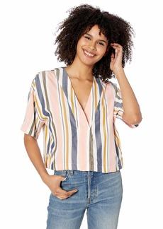 RVCA womens Hendrix Cropped Woven Shirt multi S