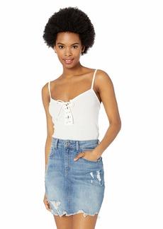 RVCA Womens HINGED CAMI Shirt whisper white M
