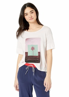 RVCA Women's Horizon Drapey Short Sleeve T-Shirt  XL