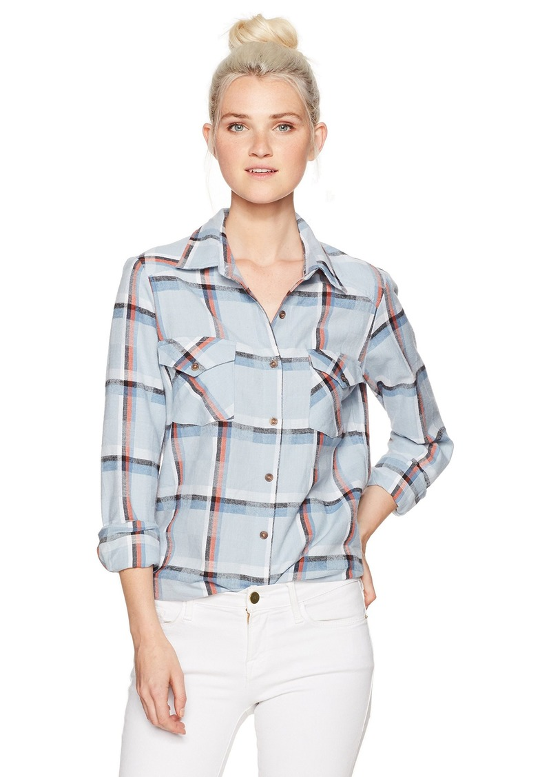 RVCA Women's Jig 5 Long Sleeve Flannel Shirt