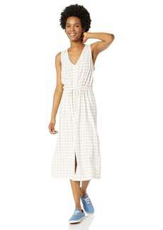 RVCA Womens Strake MIDI Dress off off white M