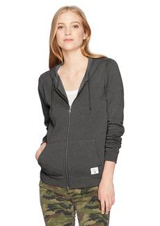 RVCA Women's Label Burnout Zip up Hoodie  S