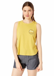 RVCA Women's Leave ME Alone Fitted Loose Knit Tank TOP  S