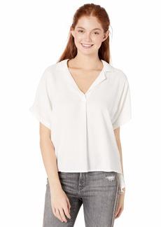 RVCA Women's Lost The PLOT Woven Shirt off off white S