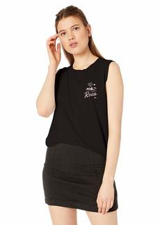 RVCA Women's MAI TAI Relaxed FIT Sleeveless T-Shirt  L