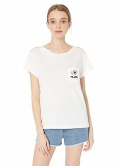RVCA Women's MATUS Flash Short Sleeve Crew Neck Pocket T-Shirt  L