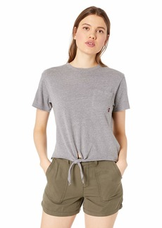 RVCA Women's Morning VA Knot Front Cropped T-Shirt  XS