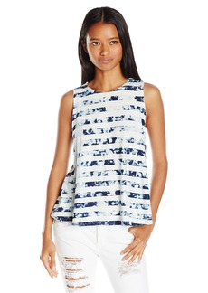 RVCA Junior's Mover Jersey High Neck Tie Dye Tank