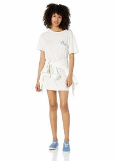 RVCA Womens Next Wave Oversized T-Shirt Dress dove gray S