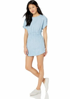 RVCA Womens Nothing Left Dolman Sleeve Dress chambray M