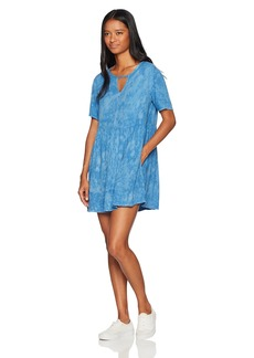 RVCA Women's Out of Town Babydoll Dress ace Blue XL