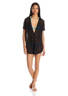 RVCA Women's Overworked Hood Pullover Cover Up  XS