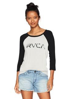 RVCA Women's Palm 3/4 Sleeve Raglan T-Shirt  S