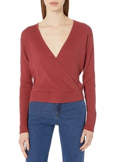 RVCA Women's Pointed Cross Front Sweater  M