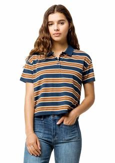 RVCA Womens POLARSHORT Sleeve Polo Shirt navy S