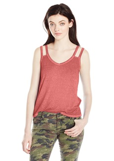 RVCA Women's Portrayal Double Strap Tank Rustic RED S