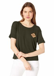 RVCA Women's Postmark Drapey Short Sleeve T-Shirt  XL