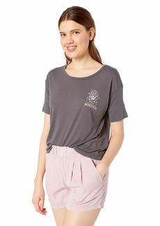 RVCA Women's Psychic Drapey Short Sleeve T-Shirt  S