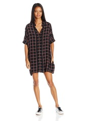 RVCA Junior's Real Time Loose Fit Plaid Dress
