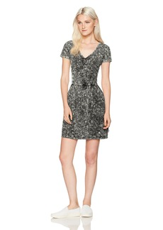 RVCA Women's Ritual Fit and Flare Dress with Side Pockets  S
