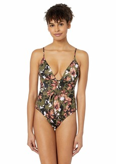 RVCA Women's Roni Floral One Piece Swimsuit