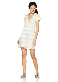 RVCA Women's Rose Striped Wrap Dress