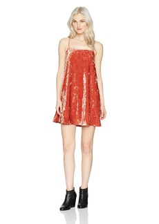 RVCA Women's Satisfaction Spagetti Strap Dress CINABAR S