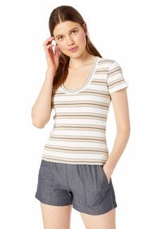RVCA Women's Seasons Change Scoop Neck T-Shirt tan S