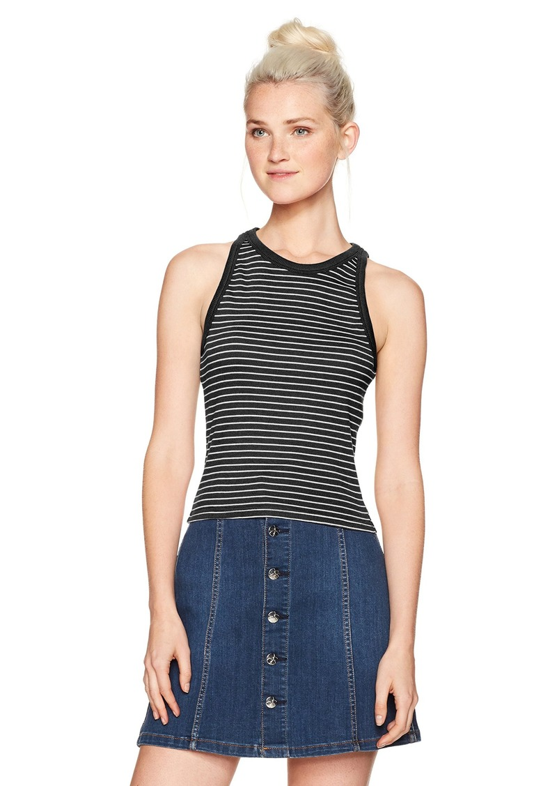 RVCA Women's Self Made High Neck Crop Tank  XS