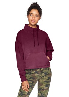 RVCA Women's Smudged Cropped Fleece Top  XL
