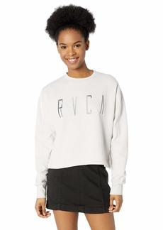 RVCA Women's Stilt Crew Neck Fleece Sweatshirt  S
