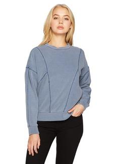 RVCA Women's Take Care Pullover Crew Neck Fleece Sweatshirt  L