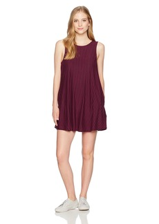 RVCA Women's Tempted Stripe High Neck Swing Dress  M