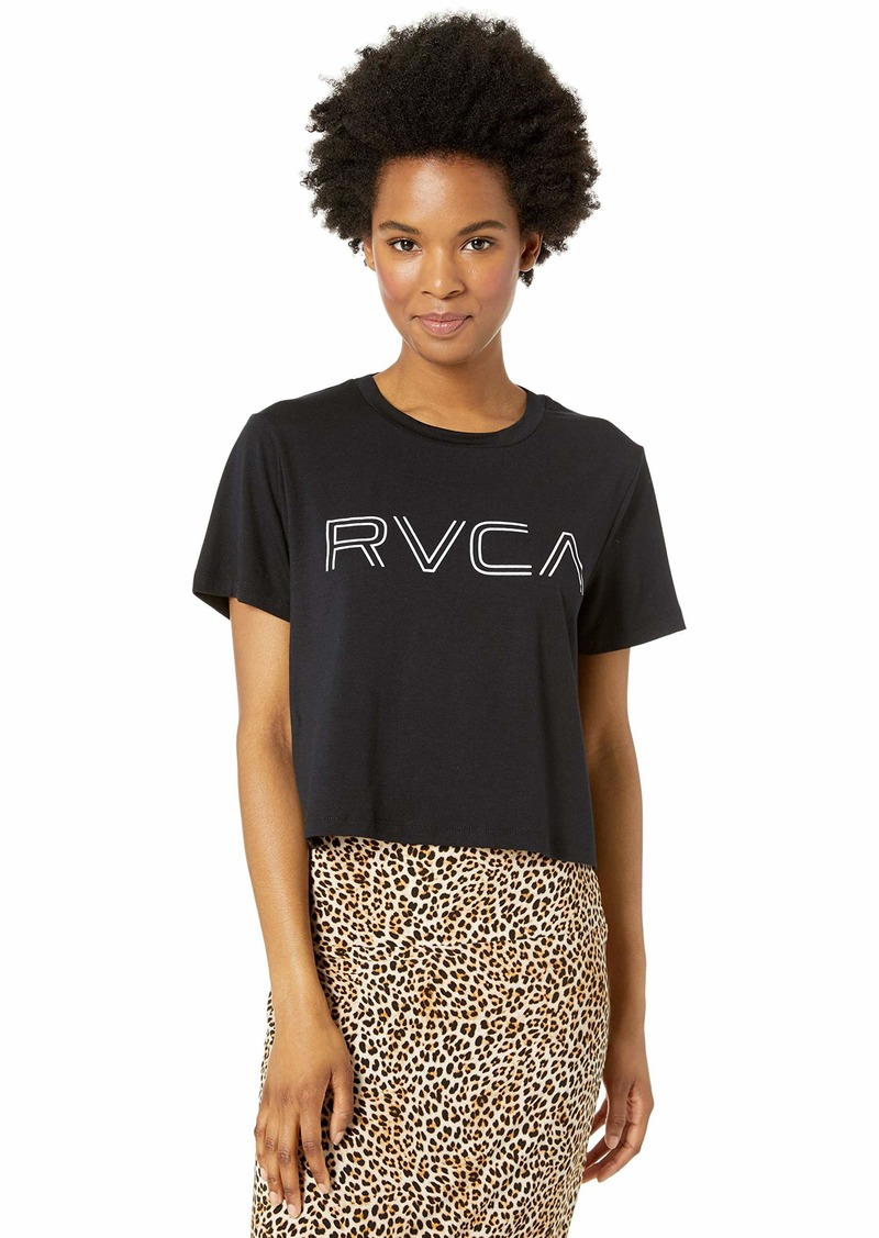 RVCA womens VA Boxy Crop Muscle Tank black XS