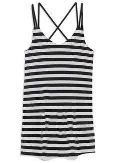 RVCA Womens Vacay DEEP V Dress black/white M