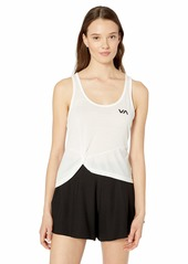 RVCA womens WARP Athlectic Tank TOP white XS
