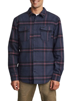 RVCA Yield Plaid Button-Up Flannel Shirt
